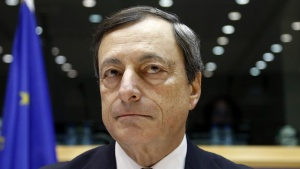 European Central Bank (ECB) President Mario Draghi waits for the start of the European Parliament's Economic and Monetary Affairs Committee in Brussels October 9, 2012. REUTERS/Francois Lenoir