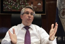 Paraguay's central bank president Jorge Corvalan speaks during an interview for the Reuters Latin America Investment Summit in Asuncion May 30, 2012. REUTERS/Jorge Adorno