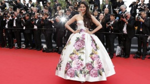 Actress Sonam Kapoor poses on the red carpet as she arrives for the screening of the film 'Jeune & Jolie' (Young & Beautiful) in competition during the 66th Cannes Film Festival in Cannes May 16, 2013.  REUTERS/Eric Gaillard