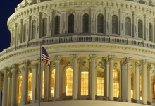 The United States Capitol Dome is seen before dawn in Washington, March 22, 2013. REUTERS/Gary Cameron