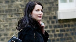 British celebrity chef Nigella Lawson leaves Downing Street after visiting the official residence of Britain's Prime Minister Tony Blair, in London, October 20, 2003. REUTERS/Toby Melville/Files