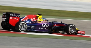 Red Bull Formula One driver Sebastian Vettel of Germany drives his car during day four of Formula One's final pre-season test at Bahrain International Circuit (BIC) in Sakhir south of Manama, March 2, 2014. REUTERS/Hamad I Mohammed