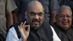 Amit Shah, a leader of Bharatiya Janata Party (BJP), speaks during a news conference in Lucknow March 1, 2014. REUTERS/Pawan Kumar