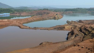 A general view shows the open pit of Sesa Sterlite iron ore mine in Codli village in Goa December 9, 2013. REUTERS/Krishna Das