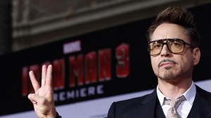 "Cast member Robert Downey Jr. poses at the premiere of ""Iron Man 3"" at El Capitan theatre in Hollywood, California April 24, 2013. REUTERS/Mario Anzuoni/Files"