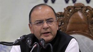 Finance and Defence Minister Arun Jaitley speaks during a news conference in Srinagar June 15, 2014. REUTERS/Danish Ismail/Files