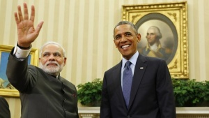 U.S. President Barack Obama hosts a meeting with Prime Minister Narendra Modi in the Oval Office of the White House in Washington September 30, 2014. REUTERS/Larry Downing