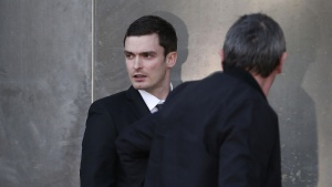 Sunderland soccer player Adam Johnson leaves Bradford Crown Court in Bradford, Britain February 10, 2016. REUTERS/Andrew Yates