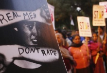REPRESENTATIVE PHOTO: Demonstrators hold placards during a candlelight vigil to mark the first death anniversary of the Delhi gang rape victim in New Delhi December 29, 2013. REUTERS/Anindito Mukherjee/Files