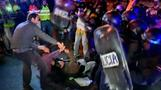 Police and anti-austerity demonstrators clash in Spain