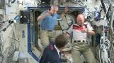 U.S., German astronauts talk about upcoming match between their countries