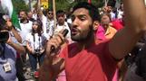 Vocal protest outside Israeli embassy in Wa