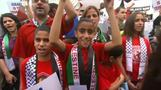 Pro-Palestinian march draws over 1,000 i