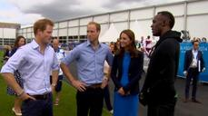 Usain Bolt meets British royals