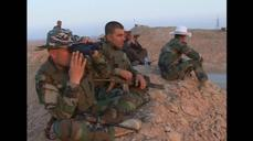 Kurdish forces pound Islamic State militants northeast of Baghdad