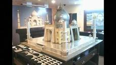 Indian artists create replica of historic Taj Mahal using silver and gold