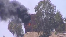Yemen TV building on fire as clashes intensify in capital