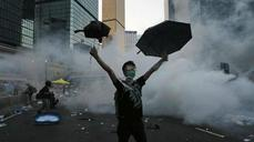 Surprise protest escalation frays Hong Kong financial nerves