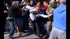 Mob beats lawmaker from ousted Ukrainian leader's party