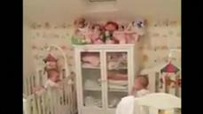 Babies get the giggles playing peek-a-boo