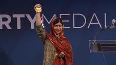 Malala receives Liberty Medal in the US