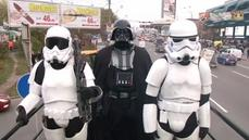 """Darth Vader"" campaigns for Ukrainian parlia"