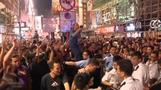 Clashes in Hong Kong as police clear protest site