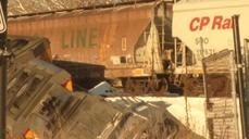 Freight trains collide, derail in Minnesota