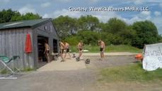 The Warwick Rowers promote their 2015 nude calendar