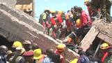A search for survivors following Nairobi building collapse