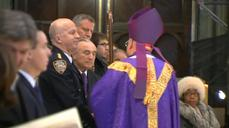 Mass for fallen NYPD soldiers, as Mayor comes under criticism