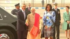 Obama arrives in India
