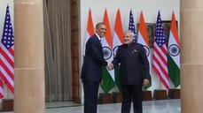 Obama arrives in India ahead of National Day events