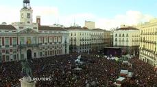 Spanish anti-austerity party rally draws tens of thousands