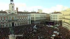 Spanish anti-austerity party rally draws tens
