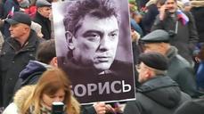 Russians march in memory of murdered Kremlin critic Boris Nemtsov