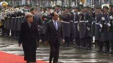 French president arrives in Berlin for Franco-German consultations