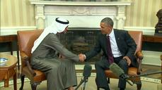 Obama meets with UAE's crown prince