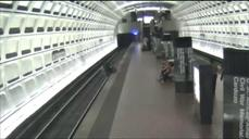 Man in wheelchair rescued from DC metro tracks