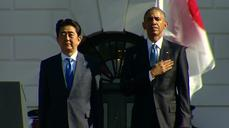 Obama welcomes Japan's Abe with South Lawn ceremony
