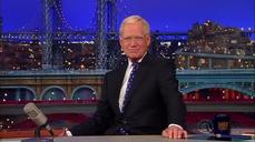 David Letterman hosts his final late-night talk show