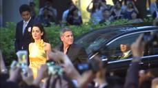 "George Clooney and wife Amal walk ""Tomorrowland"" red carpet in Japan"