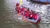 Taipei dragon boat racers make a splash