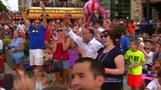 Fans celebrate U.S. Women's World Cup win