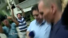 Greek FM offers no comment aft