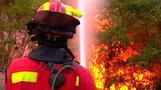 Forest fire rages in northern Spain
