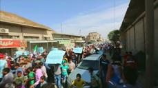 Syrians protest against Russian air strikes