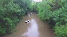 Drone video shows widespread flooding across South Carolina