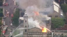Flames engulf historic Chicago church