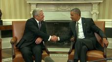 Obama meets German President Joachim Gauck at White House